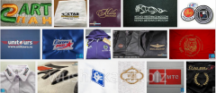 The logos embroidered all types under the order