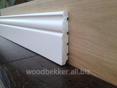 Plinth wooden floor of an alder