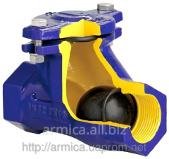 The backpressure sharovy valve for sewer drains of