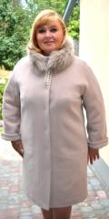 Coat female winter with fur Adele
