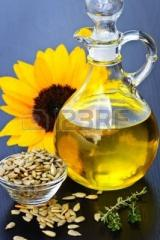 Sunflower oil nerafinirovany, press, the first