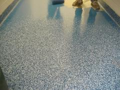 Industrial floors, on the basis of epoxy and