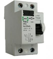 Relay of protective switching off of ECO RZV-2 2P