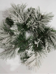 New Year's wreath with the snow small