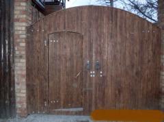 Ворота, заборы деревянные