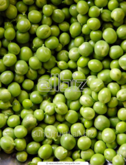 Dried green peas chipped