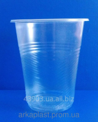 Glass of 200 ml twisted, disposable plastic