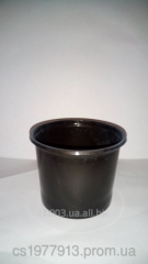 Pots for seedling of 200 ml. A cache-pot for