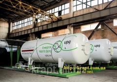 Резервуары для хранения газовой смеси пропан-бутан