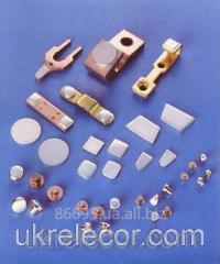 Контакт-детали электрические серебряные