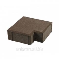 Tile for the sidewalk - Tetris gray standard