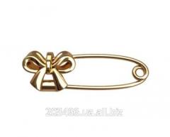 Золотая булавка бантик Код: ГЛ. БЛ 90005