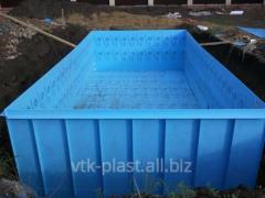 Квадратная пластиковая емкость