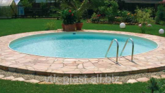 The round pool from polypropylene