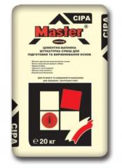 Cement and limy Master-Contour plaster