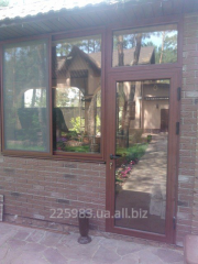 Doors entrance glass