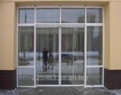 Doors are glass sliding