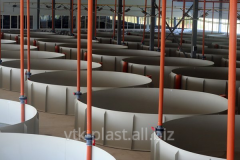 Pools from polypropylene for cultivation of fishes