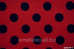 Fabric for aprons print big black R15001 peas