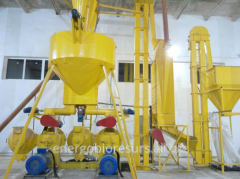 Production line of a press granulation of biomass