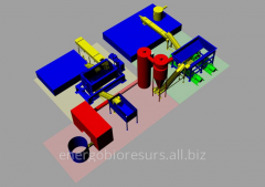 Equipment for drying of liquid products: press,