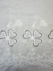 Cotton fabric with embroidery wholesale