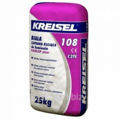 White, elastic glue for a natural stone of Kreisel