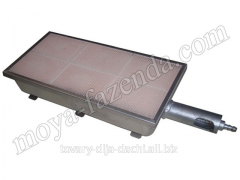 Gas infrared heater for giving 9,25 kW (DN-1 code)