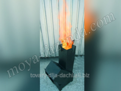 The wood furnace for cooking on Street PD-2 (KR-26