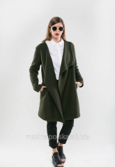 Coat cardigan from boiled wool