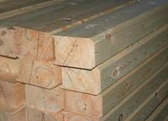 Timber for construction of houses wooden, wood of
