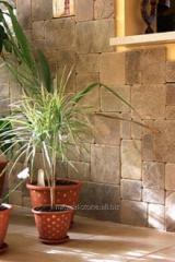 Tile rounded of sandstone natural