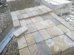Stone blocks rounded of sandstone natural