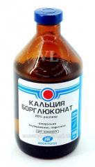 Calcium borogluconate of 20%