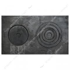 Плита 2-х комфор чугунная кокель 410*710 мм 100950