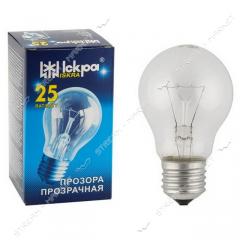 Лампа ЛЗП Искра Львов А55 230В 60Вт Е27 10...
