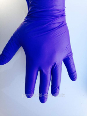 Gloves are sterile nitrile. strong gloves from