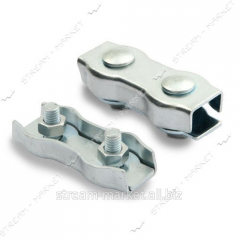 Clip on a steel cable 2 flat double No. 426405