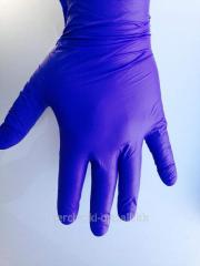 Одноразовые перчатки нитриловые, перчатки высокой