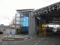 Facade translucent production, installation,