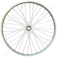Wheel back d 28 on the bicycle (a glass, a spoke,