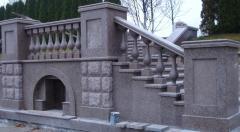 Handrail, balustrade, rail-posts, columns,