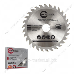 Disk saw Intertool CT-3013 on the village from a