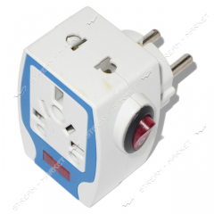 Adapter white 16A 250B No. 169963, English with