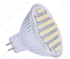 LED lamp of 3528 MR16 4W 220v 60 SMD svetod. white