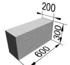 Блоки бетонные для стен подвалов перегородки