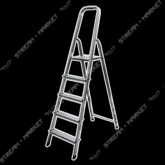 Step-ladder of Triton-tools of 6 steps aluminum