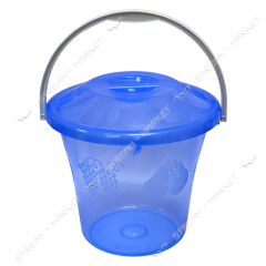 Bucket transparent polyethylene for l foodstuff 12