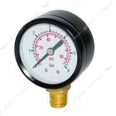 MRA manometer 0, 6 radial (black) No. 993849