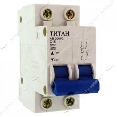 Titan automatic switch bipolar 2P 16A (6 kA) No.